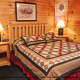 Bedroom View of Cabin 93 (Pirates Cove) at Eagles Ridge Resort at Pigeon Forge, Tennessee.
