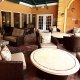 Best Western Premier Saratoga Villas patio dining