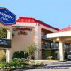 Front Entrance View at the Hampton Inn Hotel in Gulfport, near Biloxi, Mississippi. We hope you will feel at home during your New Years vacation Getaway.