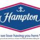 Hotel Logo View at the Hampton Inn Hotel in Gulfport, near Biloxi, Mississippi. Very affordable and pleasant way to spend your Labor Day Vacation with us!