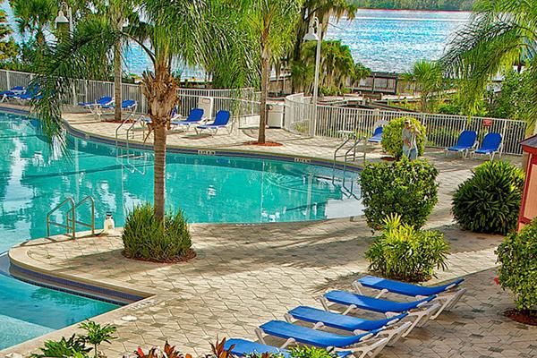 Blue Heron Beach Resort Pool And Lake