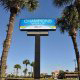 Front sign for The Champions World Resort in Orlando, Florida. All you need is at your fingertips while on Memorial Day vacation to Orlando.