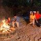 Champions World Resort beach bonfire