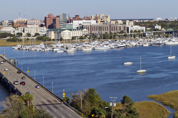 River View of Charleston, South Carolina