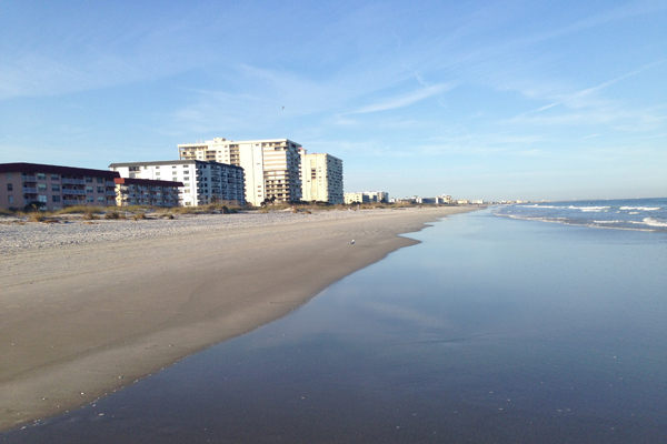 The beach in Cocoa Beach, Florida