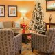 Comfort Suites lobby Christmas