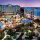 Night Panoramic View at Country Inn & Suites By Carlson Orlando-Maingate at Calypso in Orlando, Florida. Enjoy quality accommodations in this charming location during your New Years Family Getaway.