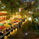 River Walk At Courtyard San Antonio Downtown/Market Square In San Antonio, TX.