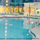 Gigantic pool view at the Crowne Plaza Hotel Orlando - Universal in Orlando, Florida.