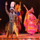African stage performance at Disney\'s Animal Kingdom in Orlando, Florida.