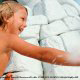 kids play in the waterfall at Disney\'s Blizzard Beach in Orlando, Florida.