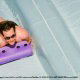 Wild water slides thrill visitors on vacation to Disney\'s Blizzard Beach in Orlando, Florida.
