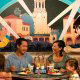 Dora the Explorer greets families in one of the many restaurants in Disney\'s Hollywood Studio in Orlando Florida.
