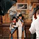 Pictures with costumes at Dollywood in Pigeon Forge, Tennessee.