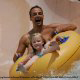 Tubing on one of the water slides at Dollywood in Pigeon Forge, Tennessee.