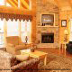 Large and cozy living room in cabins at the Eagles Ridge Resort in Pigeon Forge Tennessee.