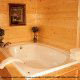Over sized garden bath tubs are a great place to relax after an exciting day visiting the many attractions in Pigeon Forge and Gatlinburg