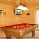 Family fun starts with pool tables in the game rooms of the cabins at Eagles Ridge in Pigeon Forge Tennessee.