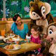 Dining is fun for the whole family with Disney characters at Walt Disney\'s Epcot in Orlando Florida.