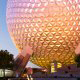 The planet earth attraction at Walt Disney\'s Epcot in Orlando Florida.