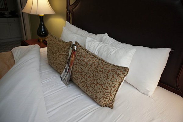 Francis Marion Hotel bed closeup