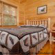 Bedroom View of Mountain Lake Retreat Cabin at Gatlinburg, Tennessee.