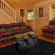 Spacious Den View of Mountain Lake Retreat Cabin at Gatlinburg, Tennessee.