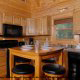 Fully Furnished Kitchen View of Mountain Lake Retreat Cabin at Gatlinburg, Tennessee.