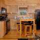 Kitchenette View of Mountain Lake Retreat Cabin at Gatlinburg, Tennessee.