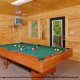Game Room View of Mountain Lake Retreat Cabin at Gatlinburg, Tennessee.