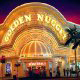 Front Entrance View at Golden Nugget Hotel and Casino in Las Vegas, NV. You are surrounded by beauty during your New Years Family Vacation Special.