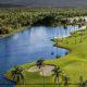 Aerial view of gulf course at Gran Melia Gulf Resort, Rio Grande, Puerto Rico.
