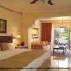 King size bed in ocean front junior suite at Gran Melia Gulf Resort, Rio Grande, Puerto Rico.