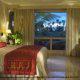 King size bed in junior suite at Gran Melia Gulf Resort, Rio Grande, Puerto Rico.