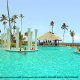 Pool with rome pillar decor at Gran Melia Gulf Resort, Rio Grande, Puerto Rico.