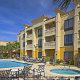 Outdoor Pool View of Hampton Vilano Inn in St. Augustine, Florida. You made a great choice for Family Halloween Vacation.