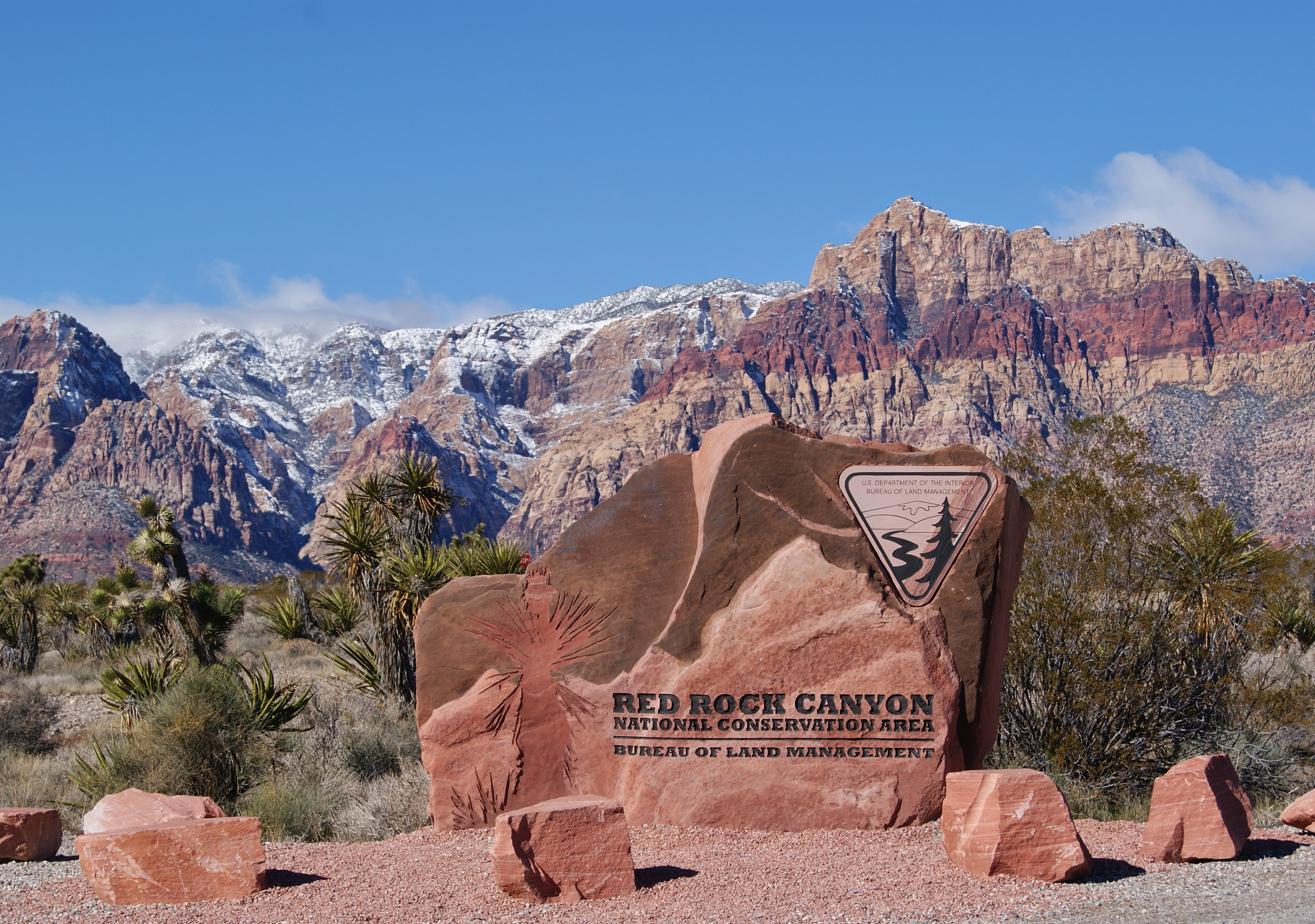 Entrance Sign to Red Rock Canyon