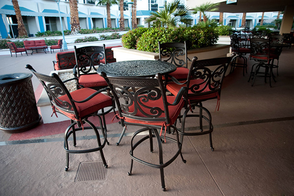 LVH Hotel deck seating