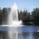 Runaway Bay Beach Resort lake fountain