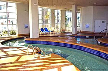 Indoor river pool at The Best Western Carolinian in Myrtle Beach