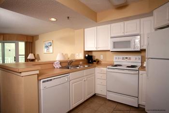 Large kitchen at The Best Western Carolinian in Myrtle Beach
