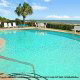 Sparkling pool overlooking the Atlantic ocean at The Best Western Carolinian in Myrtle Beach