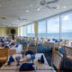 The Cafe Malfi in the Myrtle Beach Hilton has a gorgeous ocean view from any seat.