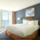 King size 1 bedroom suite at the the Hilton Beach Resort in Myrtle Beach