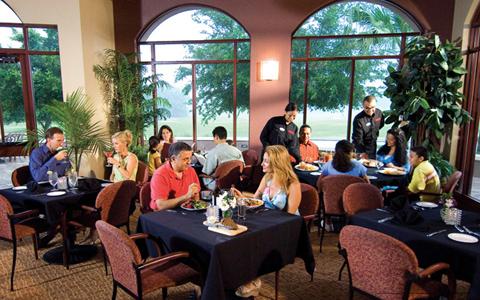 Restaurant View at Mystic Dunes Resort & Golf Club in Orlando, Florida.