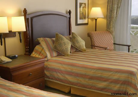 Double Bed Room at Mystic Dunes Resort & Golf Club in Orlando, Florida.