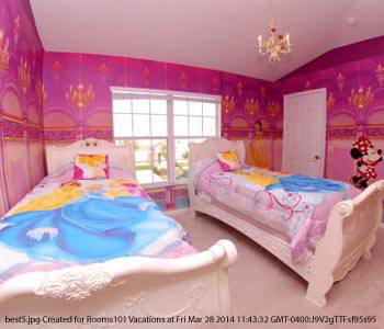 Princess Themed Bedroom At Best Western Lakeside Hotel In Orlando Florida