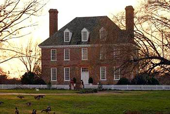 Exterior View At The Historic Powhatan Plantation Resort In Williamsburg, VA.