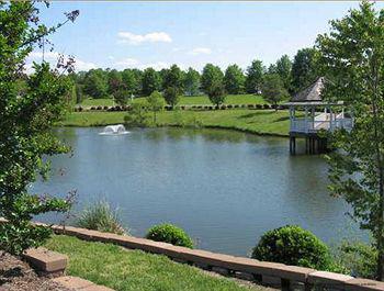 Picturesque Lake View At The Historic Powhatan Plantation Resort In Williamsburg, VA.