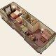Quality Suites - Royal Parc 1 bedroom floor plan